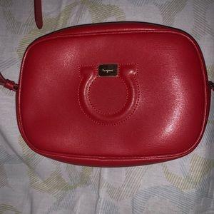 Designer purse,Ferragamo , red leather